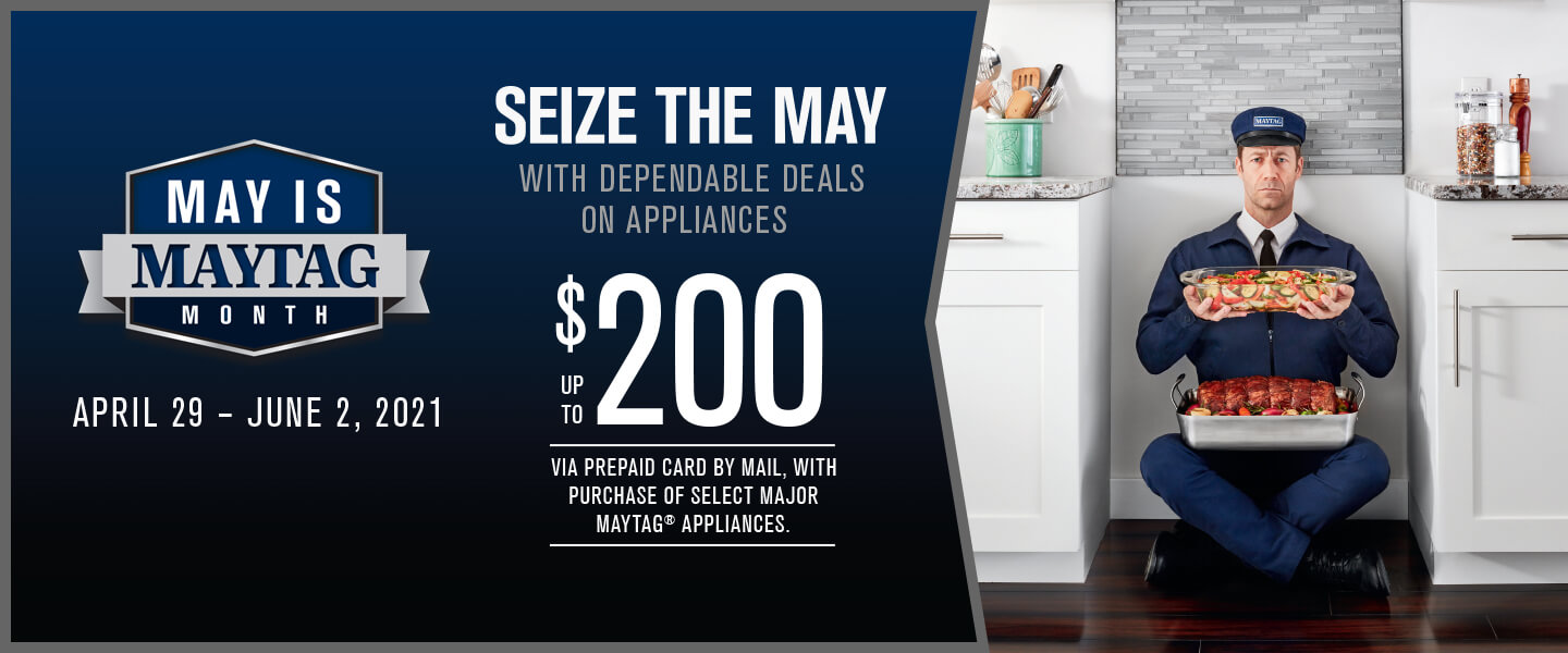 May is Maytag Month